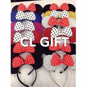 Set of 12 -Mix Color Minnie Headbans, Minnie Ears, Minnie Mouse Ears, Mickey Headband, Minnie Headband