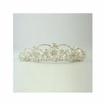 Girls Silver Crystal Rhinestone Precious Special Occasion Headpiece