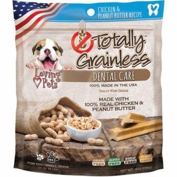 Totally Grainless Dental Bones For Large Dogs 6oz-Chicken & Peanut Butter