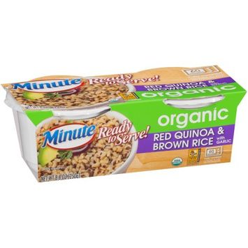 Minute ® Ready To Serve Organic Red Quinoa & Brown Rice with Garlic 8.8 oz. Pack
