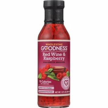 Wholesome Goodness Vinaigrette Dressing Red Wine & Raspberry, 12 Oz (Pack Of 6)