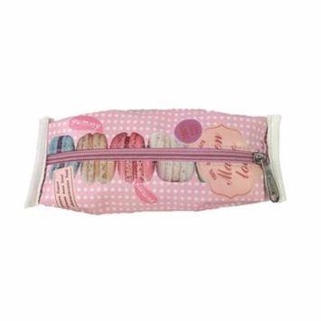 Fashion Culture Macaroon Print Cosmetic Case, Pink Multi