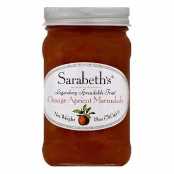 Sarabeths Orange Apricot Marmalade Spreadable Fruit, 18 OZ (Pack of 6)
