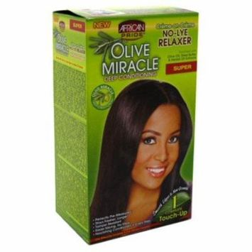 African Pride Olive Miracle Deep Conditioning No-Lye Relaxer - Super Kit