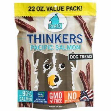Plato Thinkers Pacific Salmon Dog Treats, 22 Oz