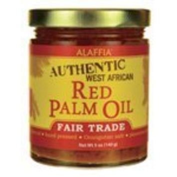 Authentic West African Fair Trade Red Palm Oil 5 Ounce (140 grams) Solid Oil