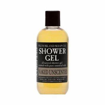 Plum Island Shower Gel Unscented Naked - Natural Unscented Soap