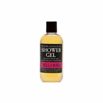 Plum Island Shower Gel Bella Rosa - Natural Shower Gel with Rose