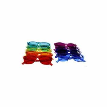 Classic Style Color Therapy Glasses - Set Of 9