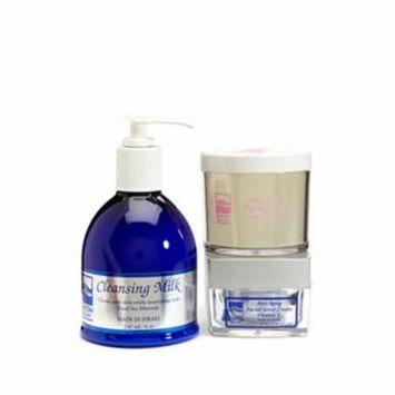 Dead Sea Spa Care DEADSEA-26 Anti-Aging Facial Scrub Cream, Anti-Aging Peeling Gel & Cleansing Milk