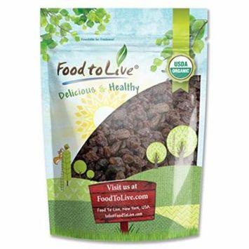 Food To Live ® Organic California Thompson Seedless Raisins (Sun-Dried, Non-GMO, Unsulphured, Bulk) (8 Ounces)