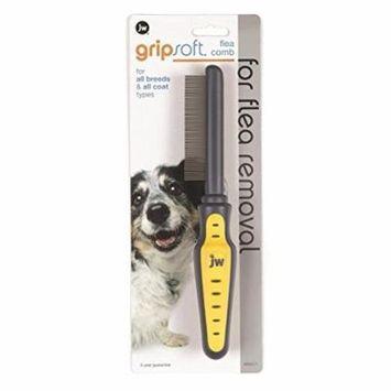 JW Pet Company GripSoft Flea Comb for Dogs