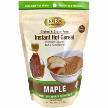 Instant Hot Cereal, Grain and Gluten-Free, Certified Paleo, Maple, 14 Servings