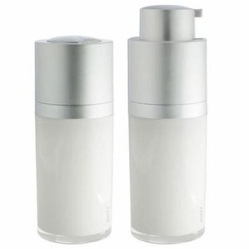 Airless Twist Top Pump Bottle Container - 15 ml / 0.5 oz + Clear Travel Bag (2 Pack)