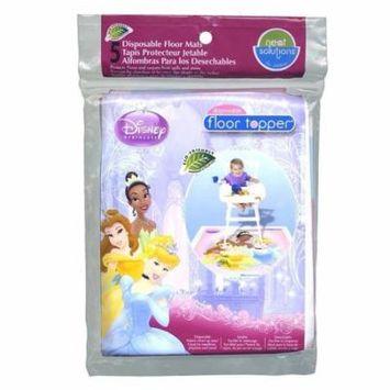 Neat Solutions Disposable Floor Topper Mats Disney Princess 5PK Cinderella Bella 10107
