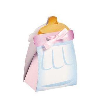 IN-70/8984 Pink Baby Bottle Treat Boxes Per Dozen