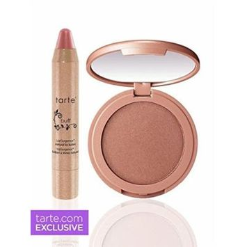 TARTE Sparkle and Shine Lip and Glow Pros Set (Highlighter/Lip) - FULL SIZE PRODUCTS - Daygleam & Buff