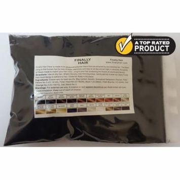 Refill Bag - Black Hair Building Fiber - 25 Gram Thickener Fibers - In 60 Seconds Your Hair Loss Will Be Gone - Cover Up Hair Loss. Cover Gray Roots.
