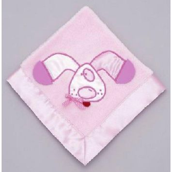 Mullins Square Kids/Teether Blanket, Pink Puppy