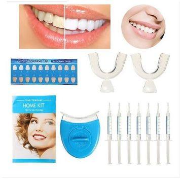 Teeth Whitening Kit LED Light Tooth Whitener Hygiene Bleaching Teeth Tool Whitening Home Kit