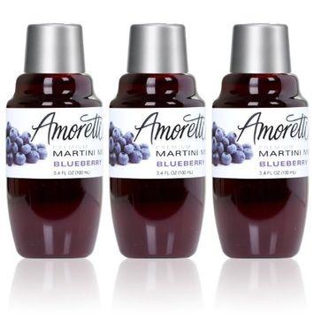 Amoretti Premium Martini Cocktail Mix Minis, Blueberry, 3.4 Fluid Ounce