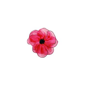Expo Lani Organza Flower Brooch Pin Hair Clip