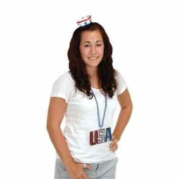 (Pack of 12) Patriotic Party Sailor Hat Hair Clip