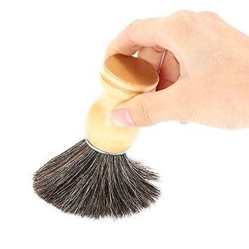 Fdrirect Black Pure Badger Shaving Wooden Brush Handle Mustache Brushes Men Cleansing