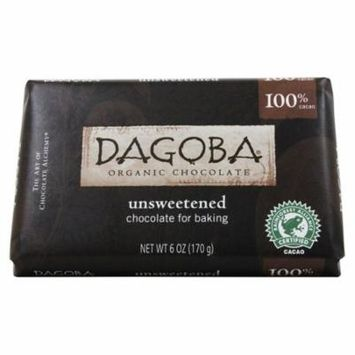 Dagoba Organic Chocolate - Unsweetened Chocolate For Baking 100% Cacao - 6 oz(pack of 6)