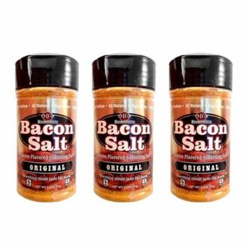 J&D's Original Bacon Salt - 3 PACK - Low Sodium All Natural Bacon Flavored Seasoning Salts
