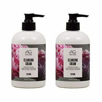 AG Hair Care Cleansing Cream Foam-Free Hair Wash 12 oz. - 2 PACK!!