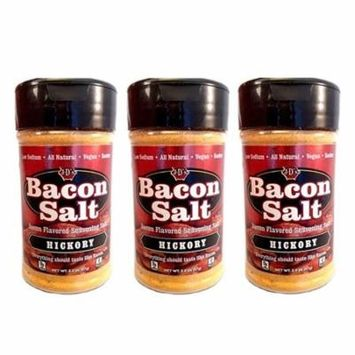 J&D's Hickory Bacon Salt - 3 PACK - Low Sodium All Natural Bacon Flavored Seasoning Salts