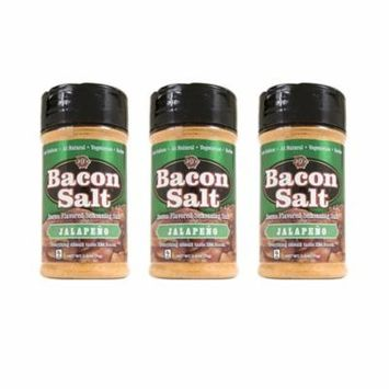 J&D's Jalapeno Bacon Salt - 3 PACK - Low Sodium All Natural Bacon Flavored Seasoning Salts