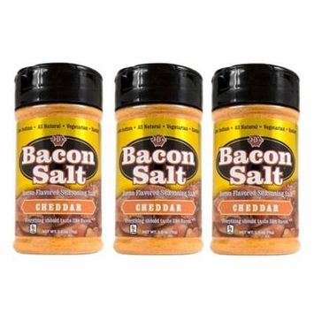 J&D's Cheddar Bacon Salt - 3 PACK - Low Sodium All Natural Bacon Flavored Seasoning Salts