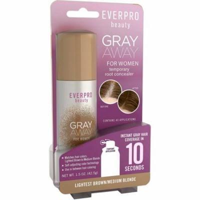 Gray Away Womens Temporary Root Concealer, Lightest Brown/Medium Blonde 1.50 oz