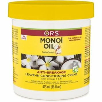 2 Pack - ORS Monoi Oil Anti-Breakage Leave In Conditioning Creme