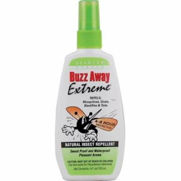 4 Pack - Buzz Away Extreme, Natural Insect Repellent 4 oz