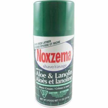3 Pack - Noxzema Shave Cream Aloe and Lanolin 11 oz