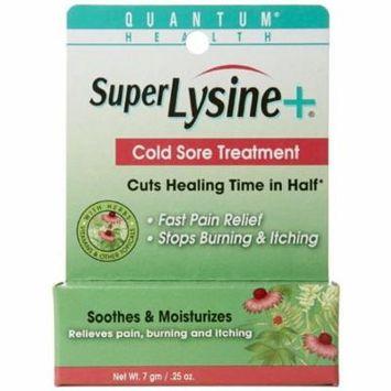 2 Pack - Quantum Super Lysine Plus + Cold Sore Treatment 0.25 oz