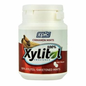Epic Dental Xylitol Sweetened Mints Cinnamon -- 180 Pieces pack of 4