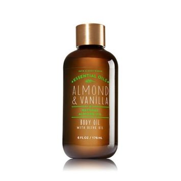Bath and Body Works Almond and Vanilla Body Oil with Natural Almond Essential Oil 6 Ounce