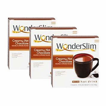 WonderSlim Low-Carb High Protein Powder Diet/Weight Loss Instant Hot Drink Mix - Hot Chocolate (3 Box Value Pack) - Low Carb, Low Calorie, Low Fat, Cholesterol Free