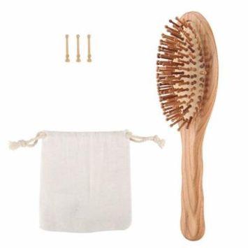 Wooden Hair Brush Hair Vent Massage Comb Anti Static Hair Detangler for Healthy Hair - Small Size