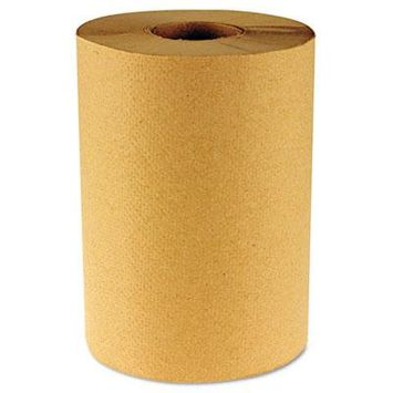 Hardwound Paper Towels, Nonperforated 1-Ply Natural, 800ft, 6 Rolls/Carton, Sold as 1 Carton, 6 Roll per Carton