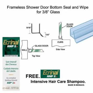 Clear Shower Door Dual Durometer PVC Seal and Wipe for 3/8
