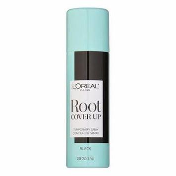 Loreal Paris Root Cover Up Dye Temporary Gray Concealer Spray, Black, 2 oz