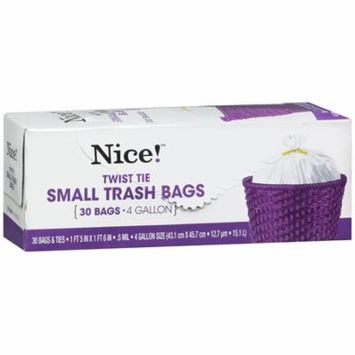 Nice! Small Trash Bags 4 Gallon 30.0 ea (Pack of 12)