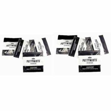 PottyMints Arancia Di Capri Travel Bathroom Toilet Odor Eliminator Air Freshener Tablets 8 Pack Black Fragrance