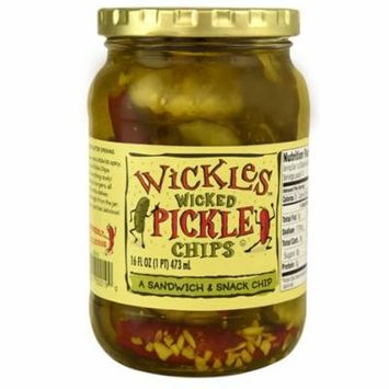 Wickles Wicked Pickle Chips -- 16 fl oz pack of 2