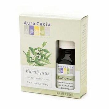 Aura Cacia Pure Essential Oil, Exhilarating Eucalyptus 0.5 fl oz(pack of 12)